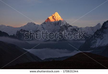 Pyramid Mountain Stock Photos, Royalty.