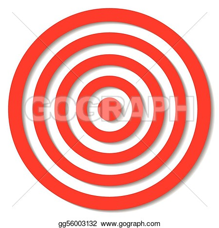 Clipart of archery target outline.