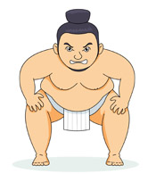 Similiar Funny Cartoon Sumo Wrestler Keywords.
