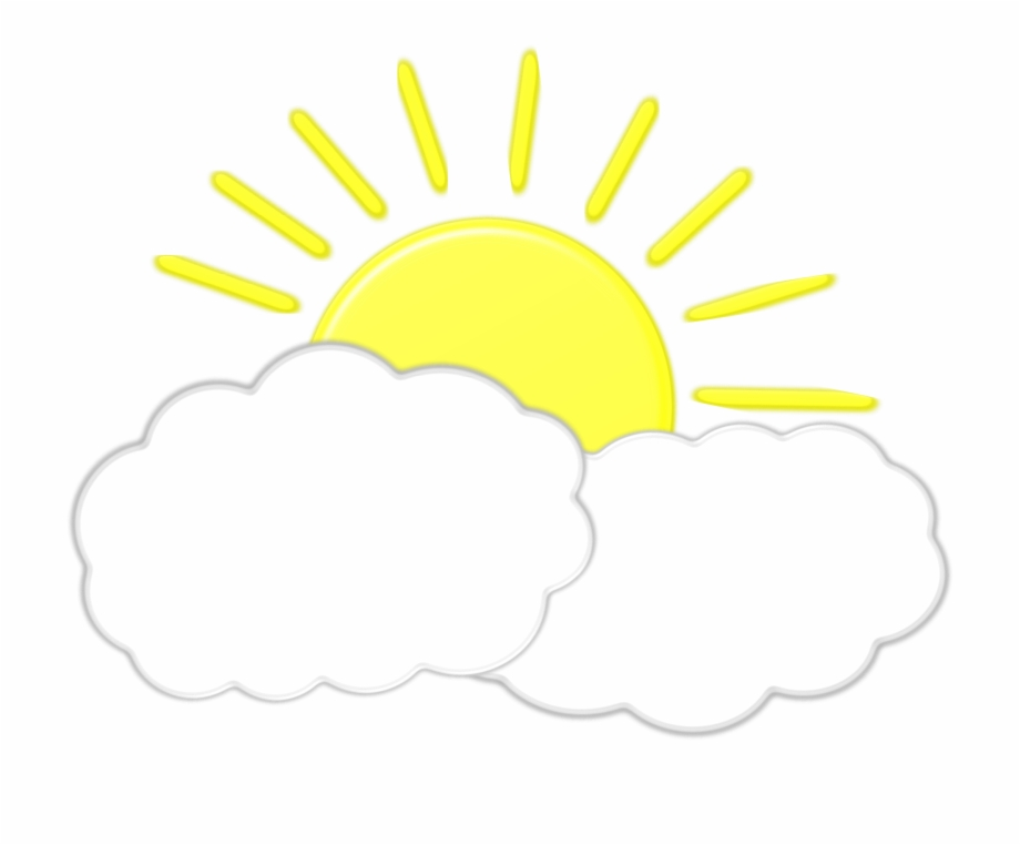 Sun Behind Clouds Icons Png.