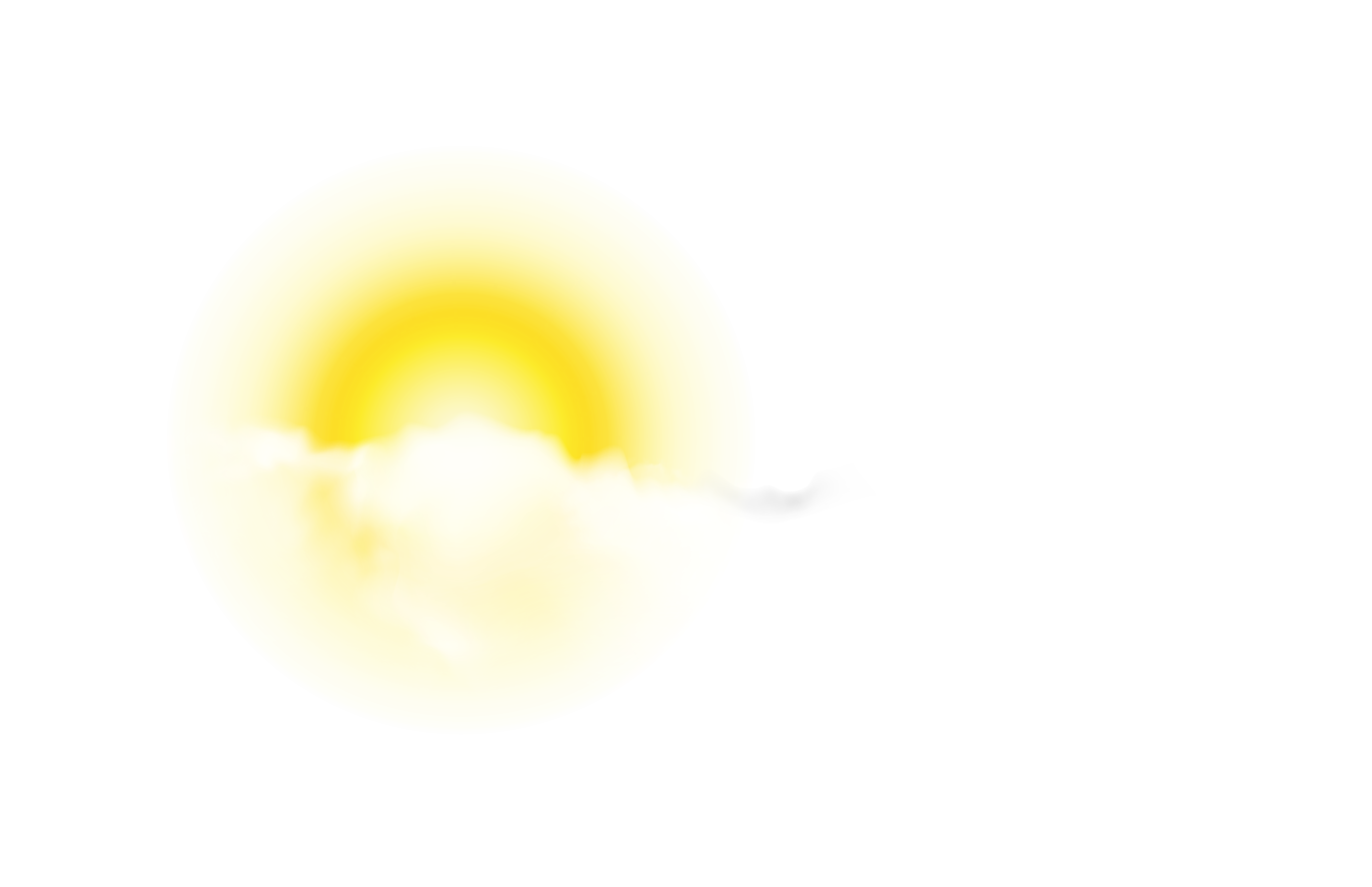 Sun with Cloud PNG Clip.