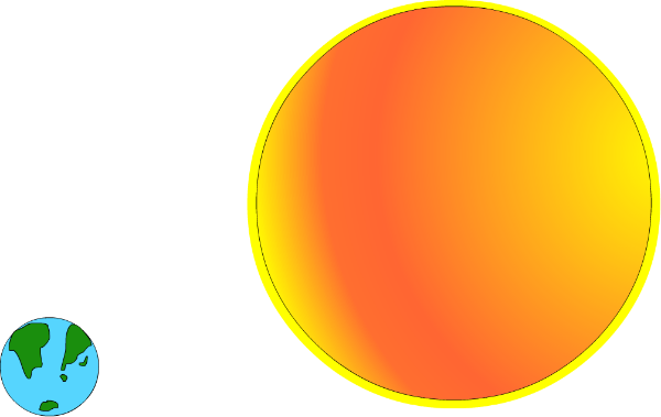 Sun and Earth PNG Clip arts for Web.