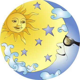 30+ Sun And Moon Clipart.