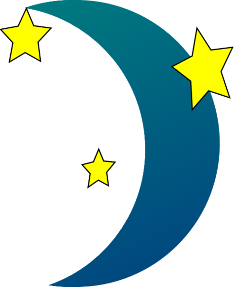 Moon And Stars Clipart Free Clipground
