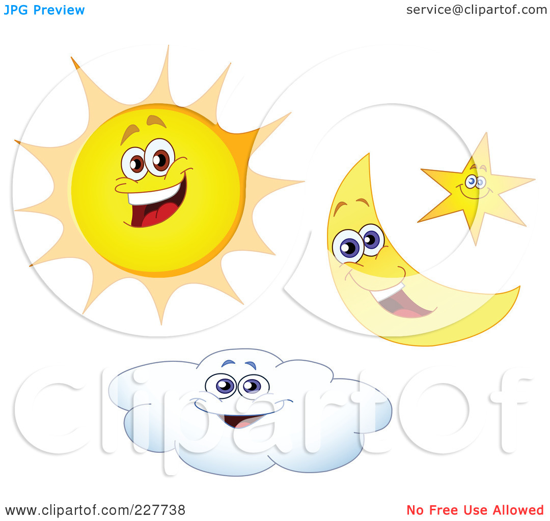 Free Sun And Moon Clipart.