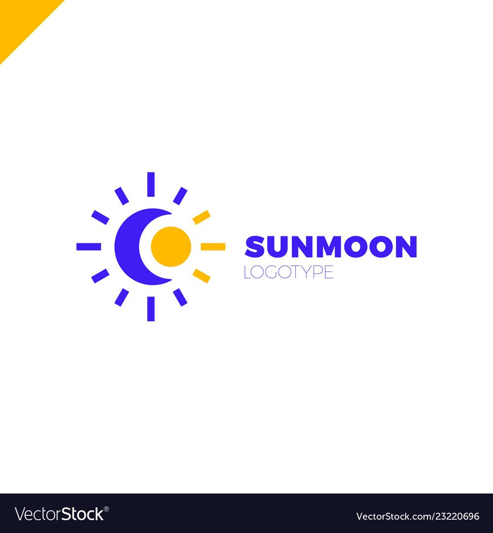 Sun and moon logo abstract.