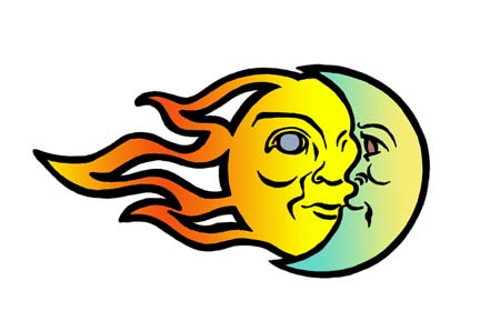 Sun And Moon Clip Art.