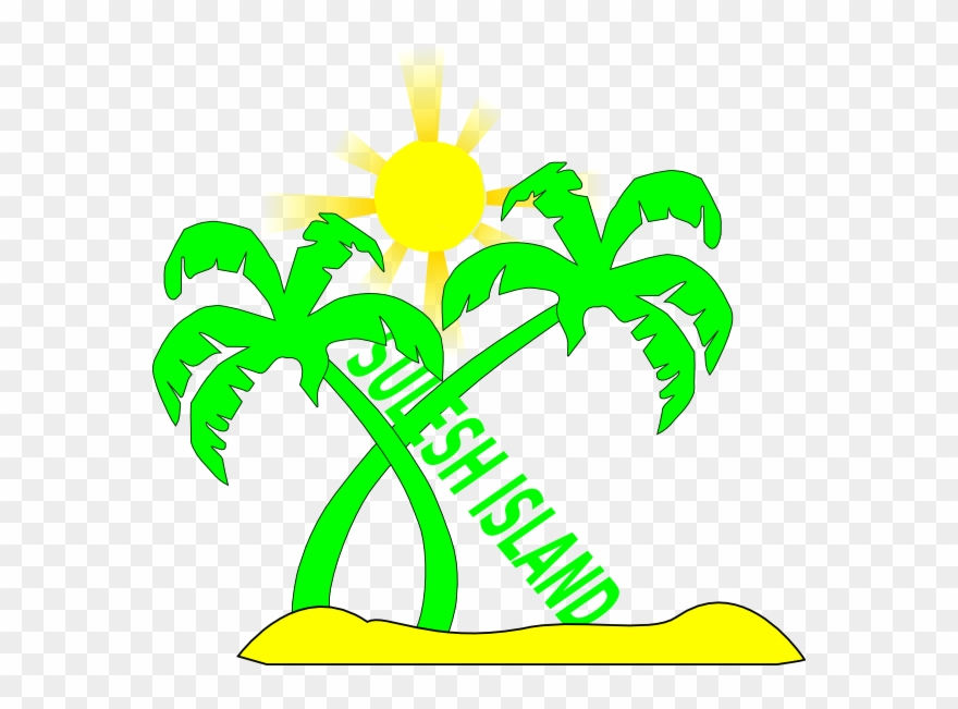 Transparent Palm Tree With Sun Clipart (#84237).