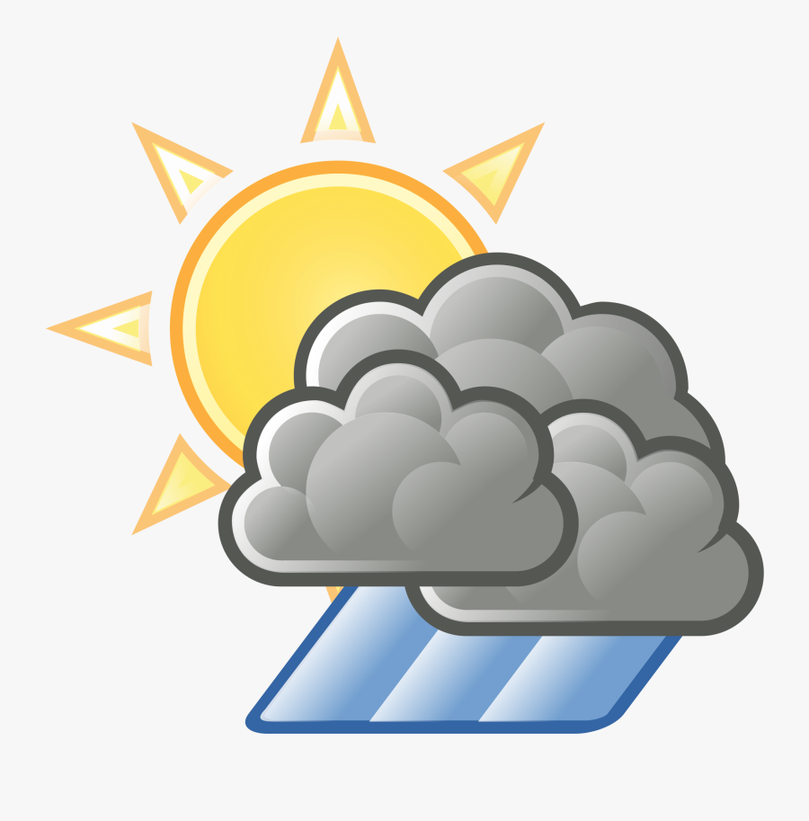 Sun Cloud Rain Clipart.