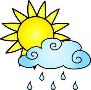 Sun and Rain Clipart.