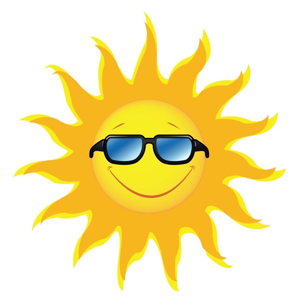 Clipart sun with sunglasses.
