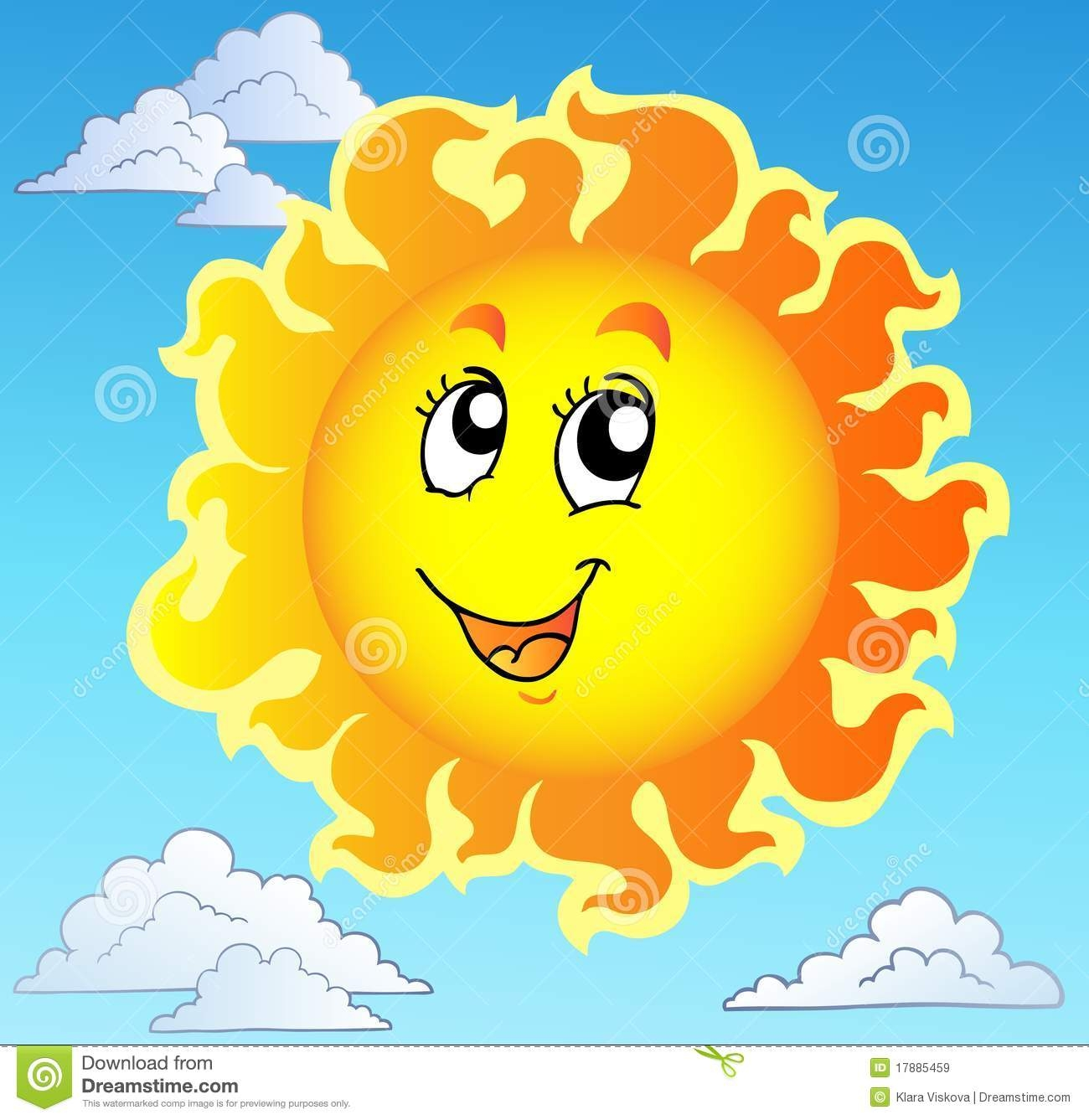 Sun in the sky clipart 7 » Clipart Station.