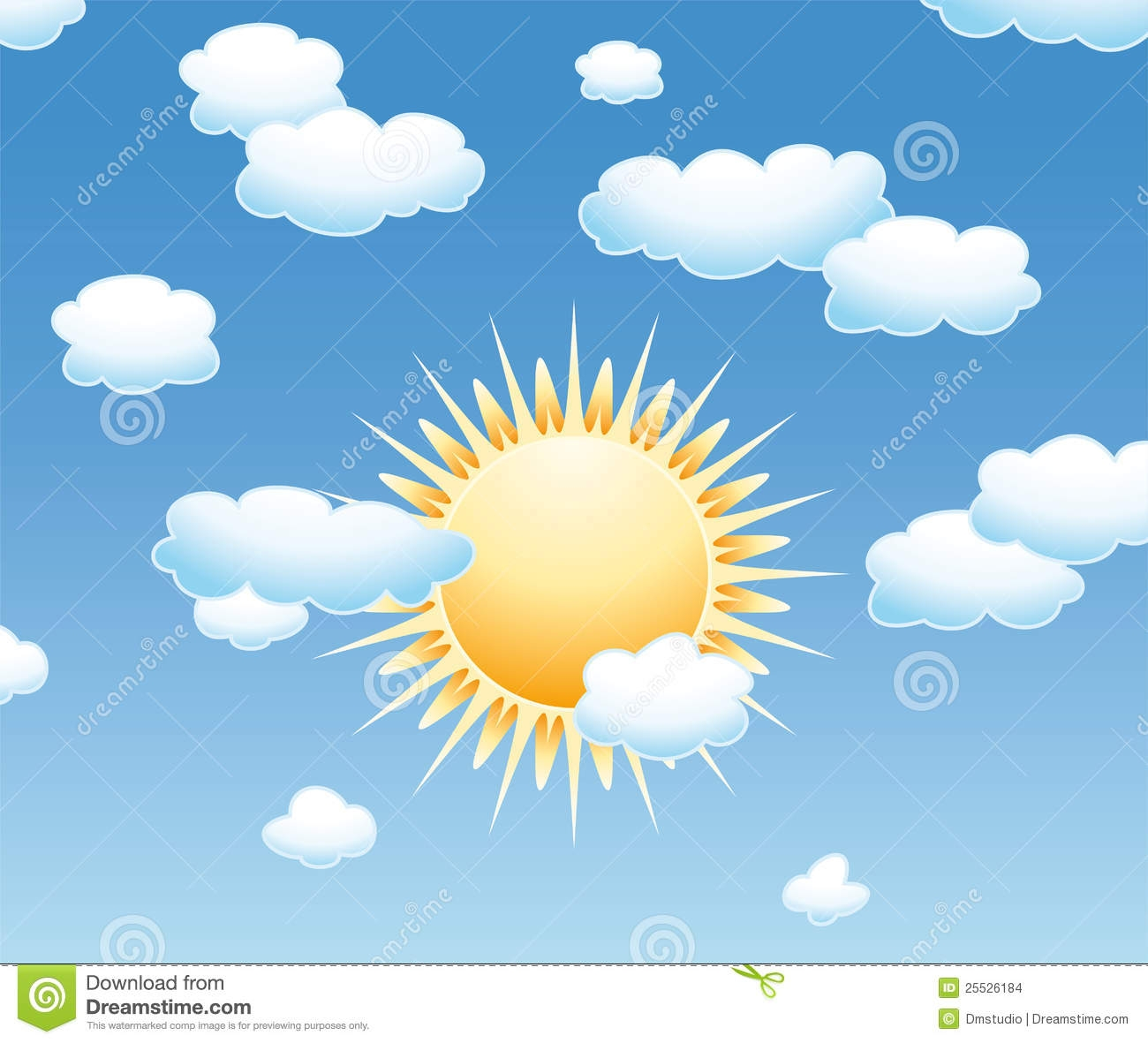Sun in the sky clipart 6 » Clipart Station.