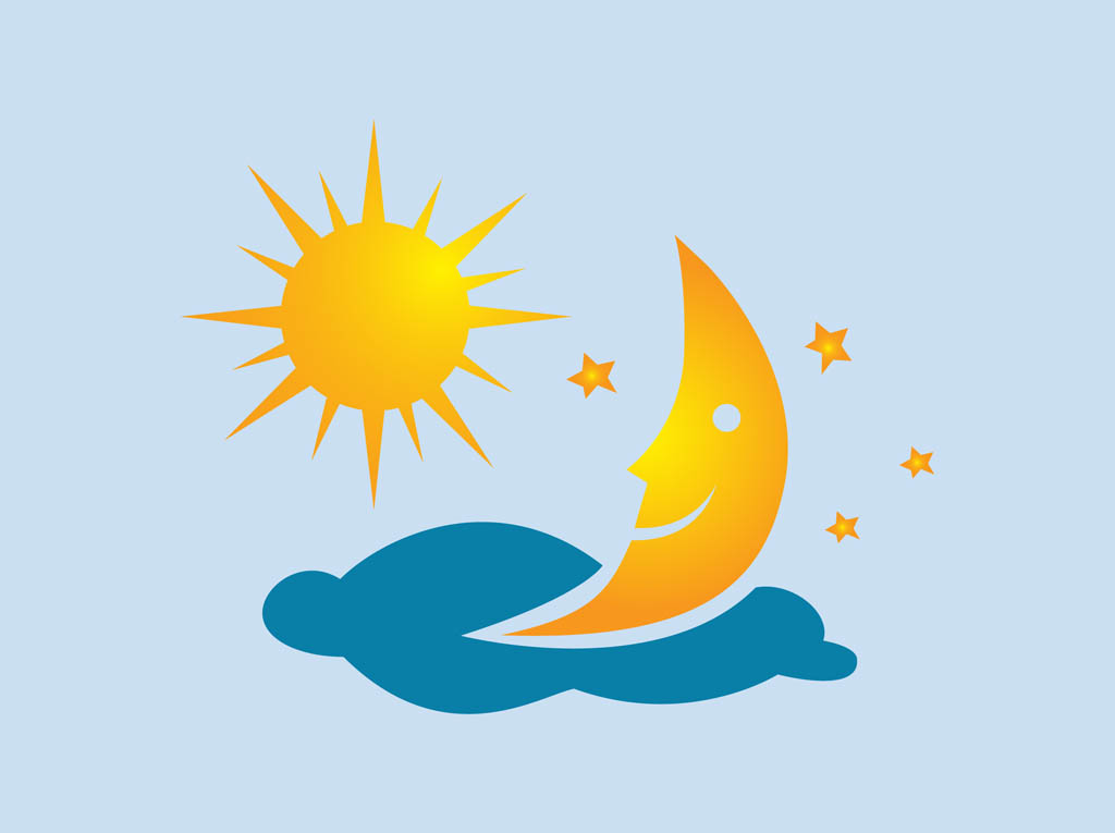 Moon And Stars Clipart.