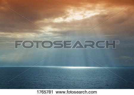 Stock Photography of Sun breaking through the cloud 1765781.