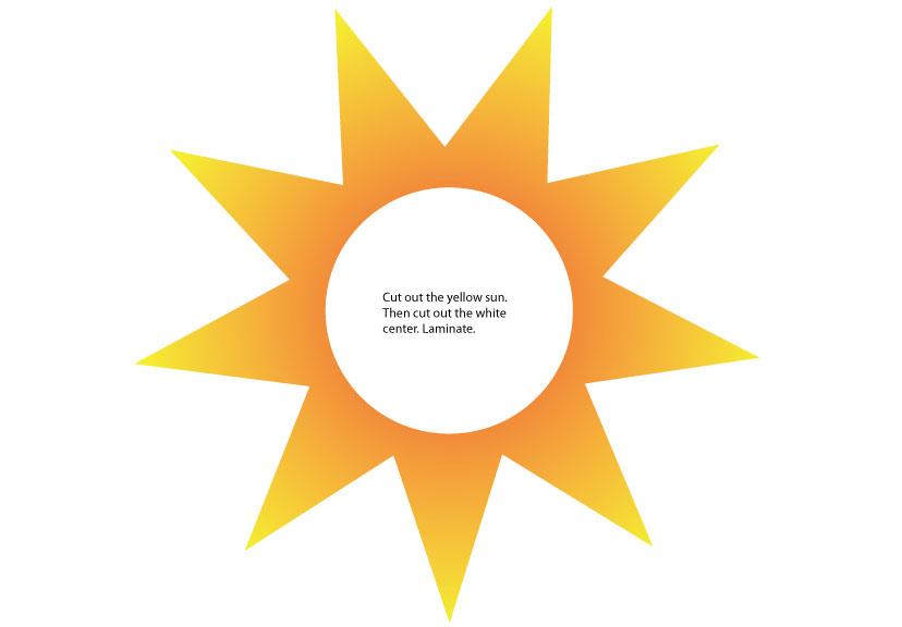 Primary sunbeam clipart.