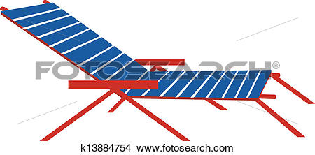 Clipart of A sunbed k13884754.