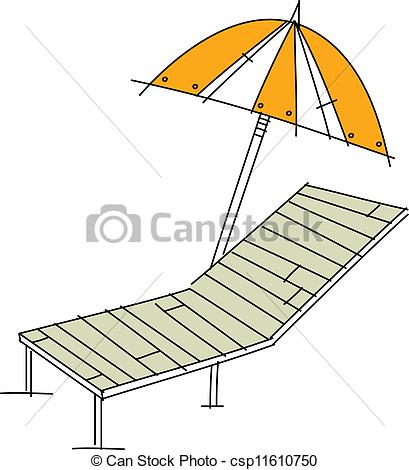 Clipart Vector of A sunbed.