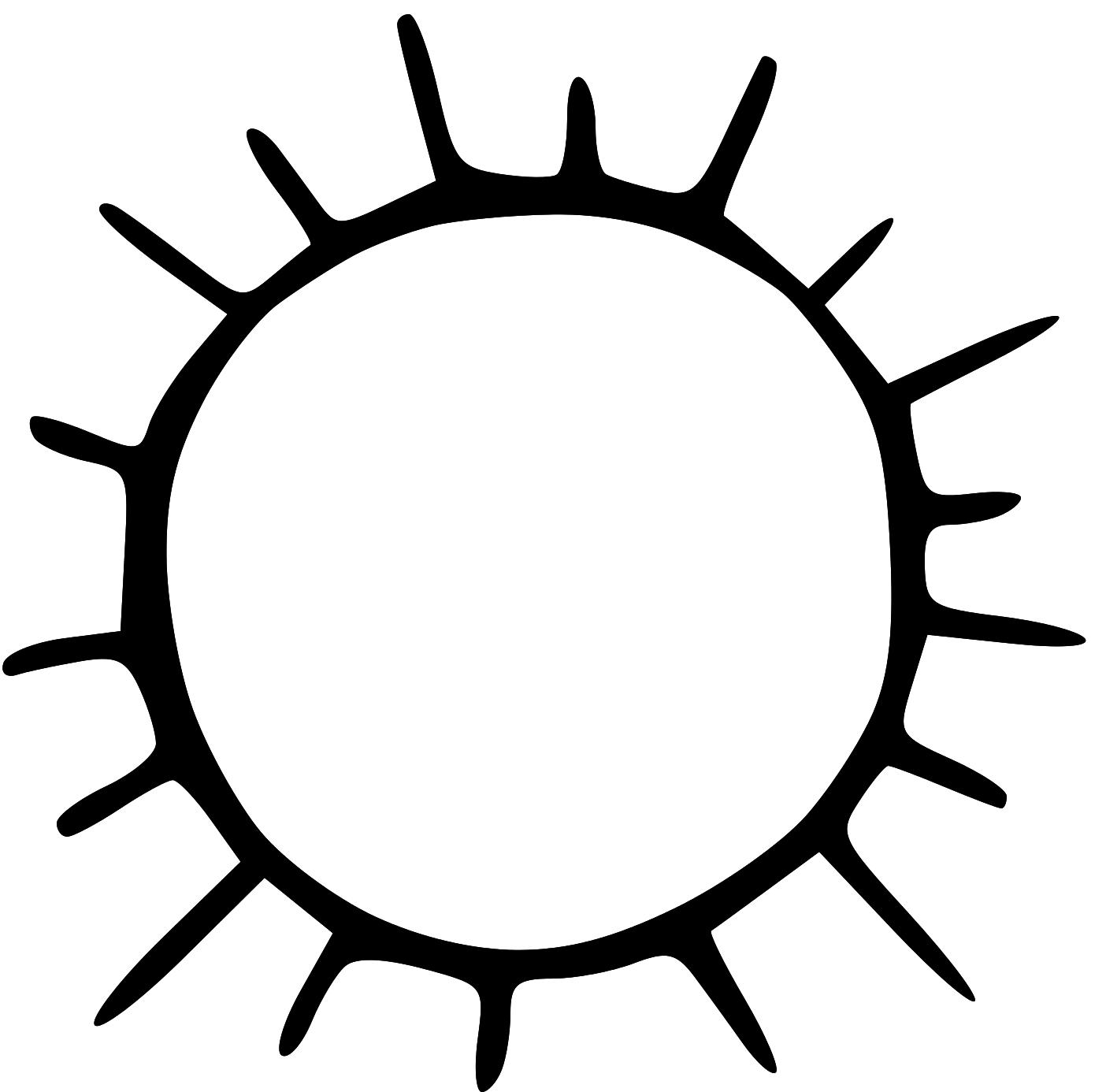 Clipart Sun Black And White.