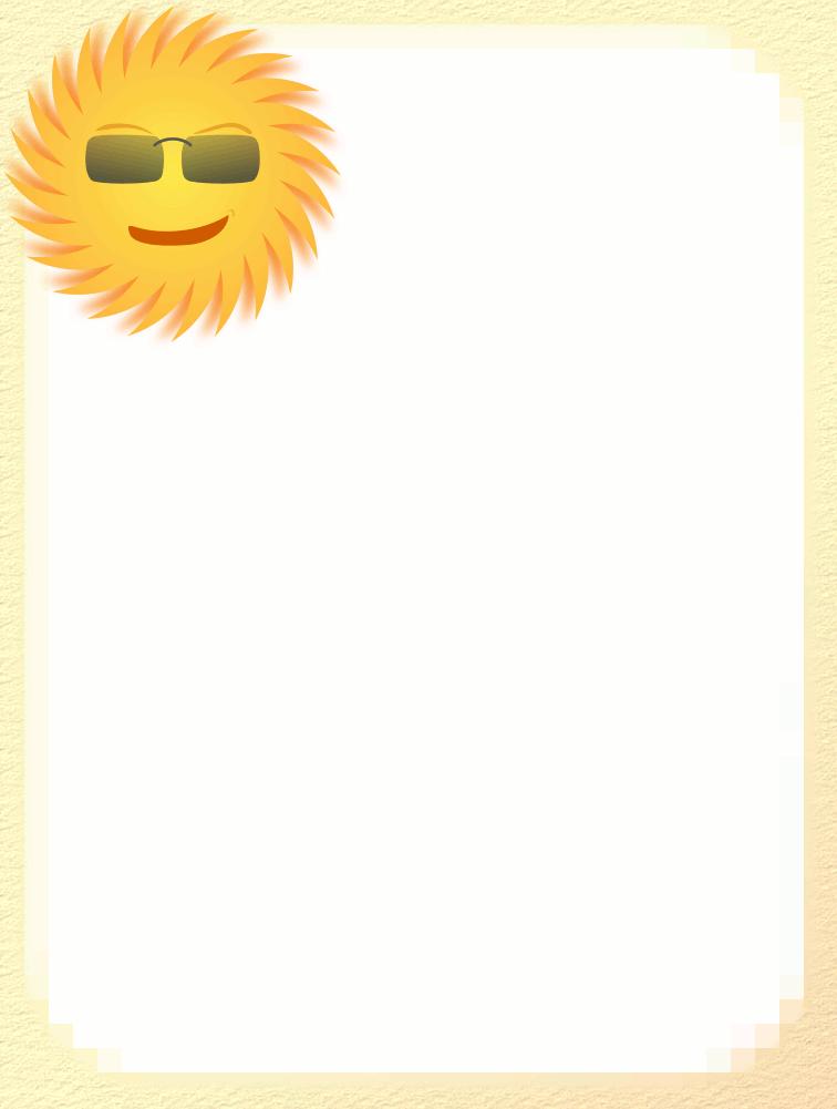 Sun Border Clipart.