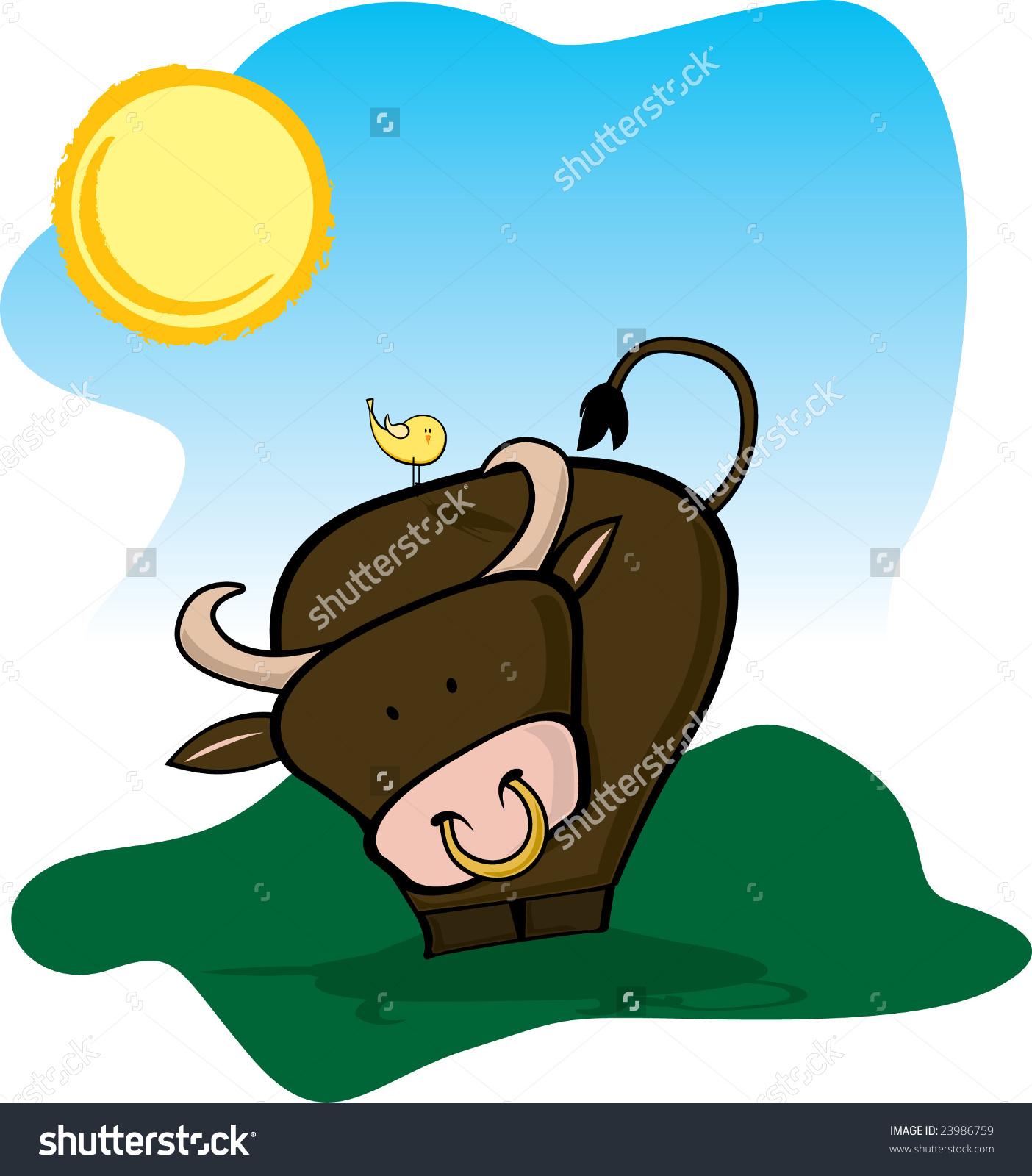 Bull Under Sun Stock Vector 23986759.
