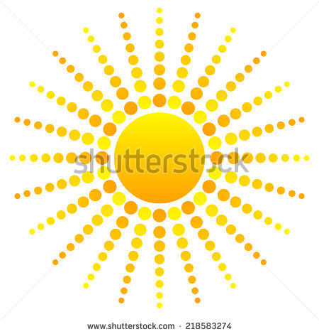 Abstract Sun Clipart Stock Vector 218583274.