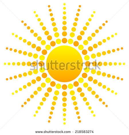 Abstract Sun Clipart Stock Vector 218583274.