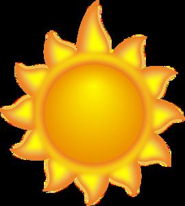 A Sun Cartoon With A Long Ray 2 Clip Art at Clker.com.
