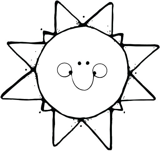 Black And White Sunshine Clipart.