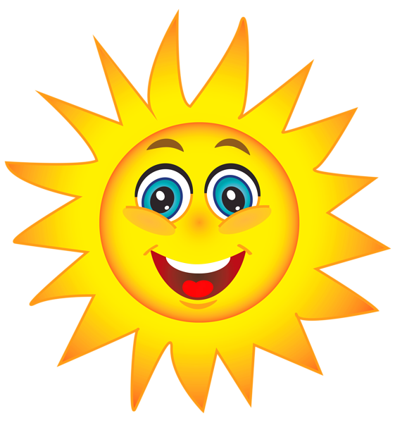 Happy sun clip art.