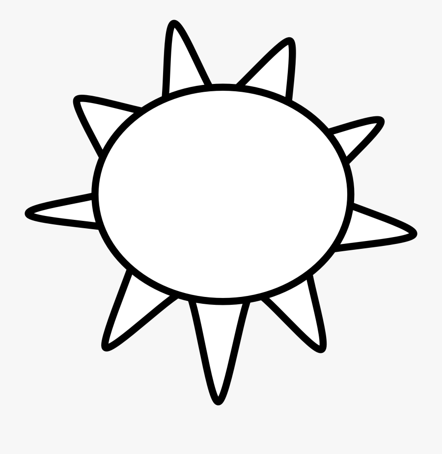 Sun Clip Art Black And White Sun Outline Black White.