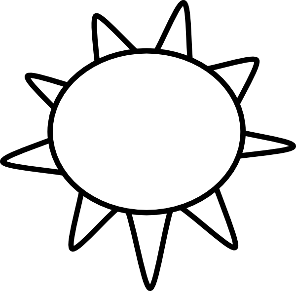 Sun Outline Clip Art at Clker.com.