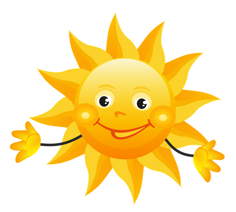 Creative cartoon sun png download.
