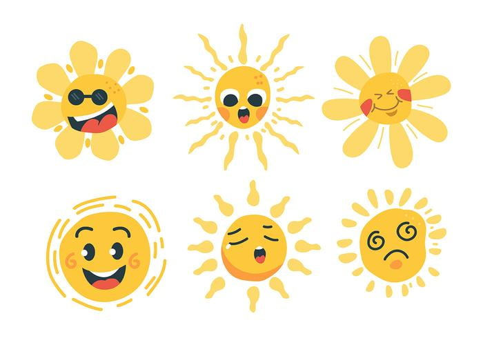 Sun Clipart Set svg, ai file.