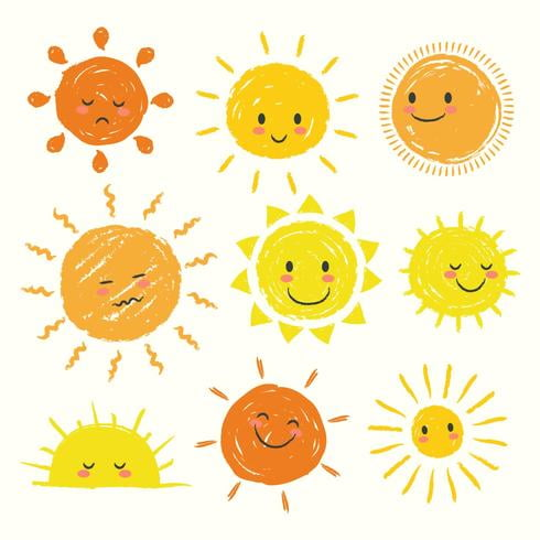 Sun Clipart Set svg, eps file.