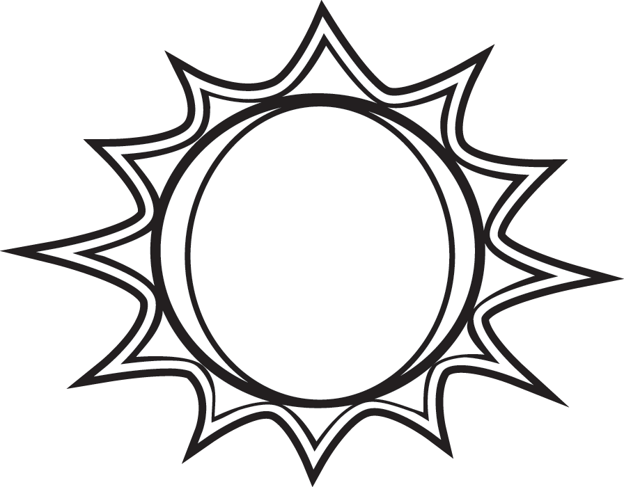 Best Sun Clipart Black And White #1812.