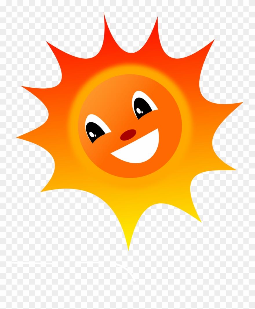 Smiley Sun Clip Art.