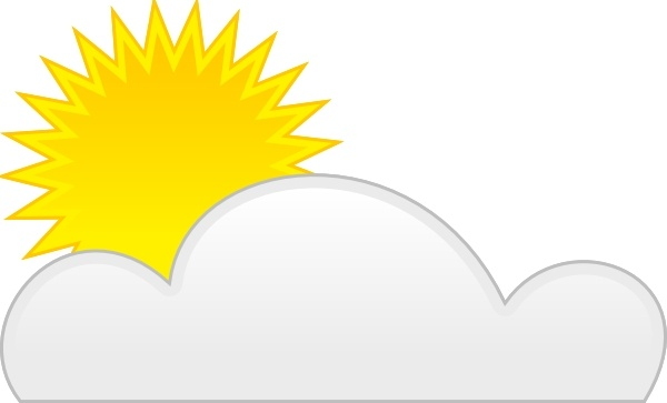 Sun Cloud clip art Free vector in Open office drawing svg.