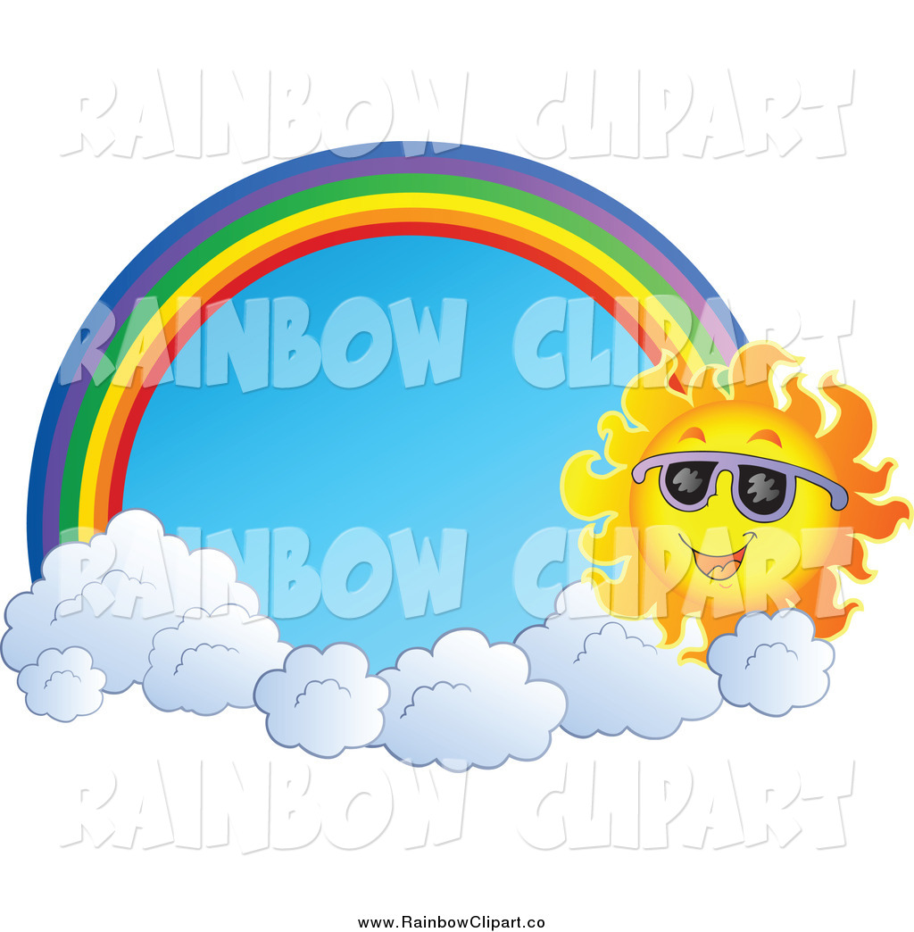 Royalty Free Stock Rainbow Designs of Sun Characters.