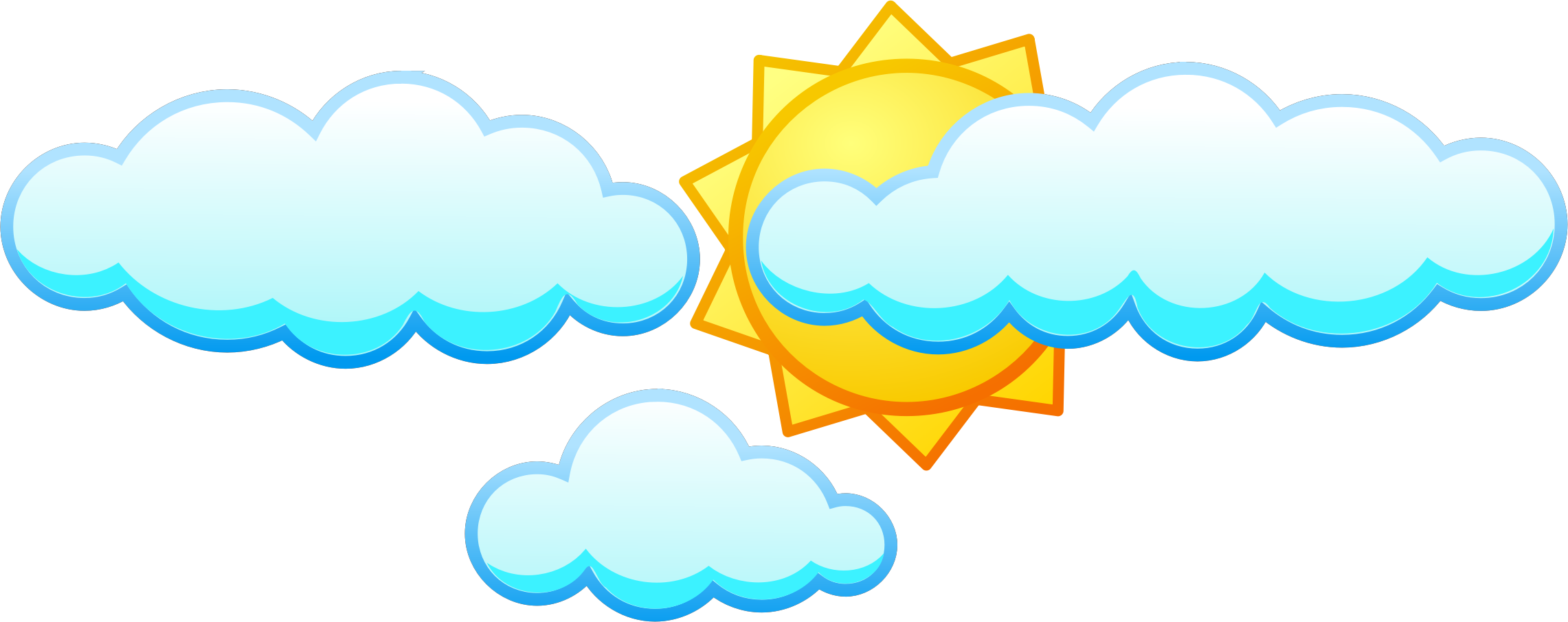 Sun Cloud Clipart.