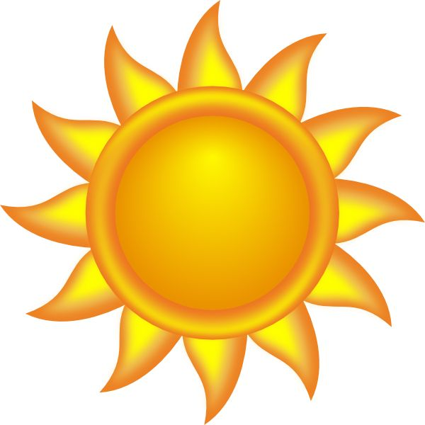 Sun Clipart Color.