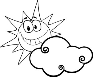 Sun Coloring Pages For Kids.