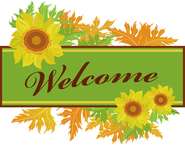 Clip Art To Make Your Own Welcome Sign.
