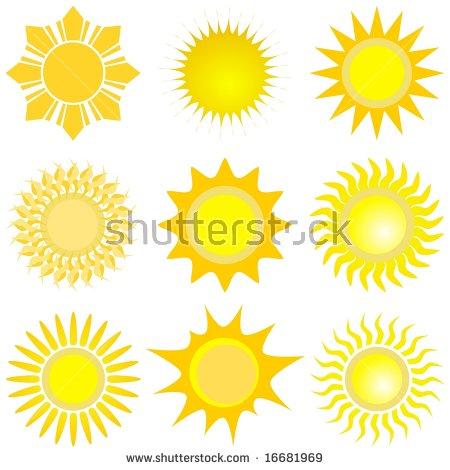 Sunshine Symbol Stock Photos, Royalty.