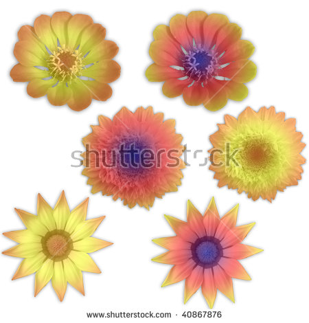 Beautiful Sunflower Icon Abstract Natural Flower Stock Vector.