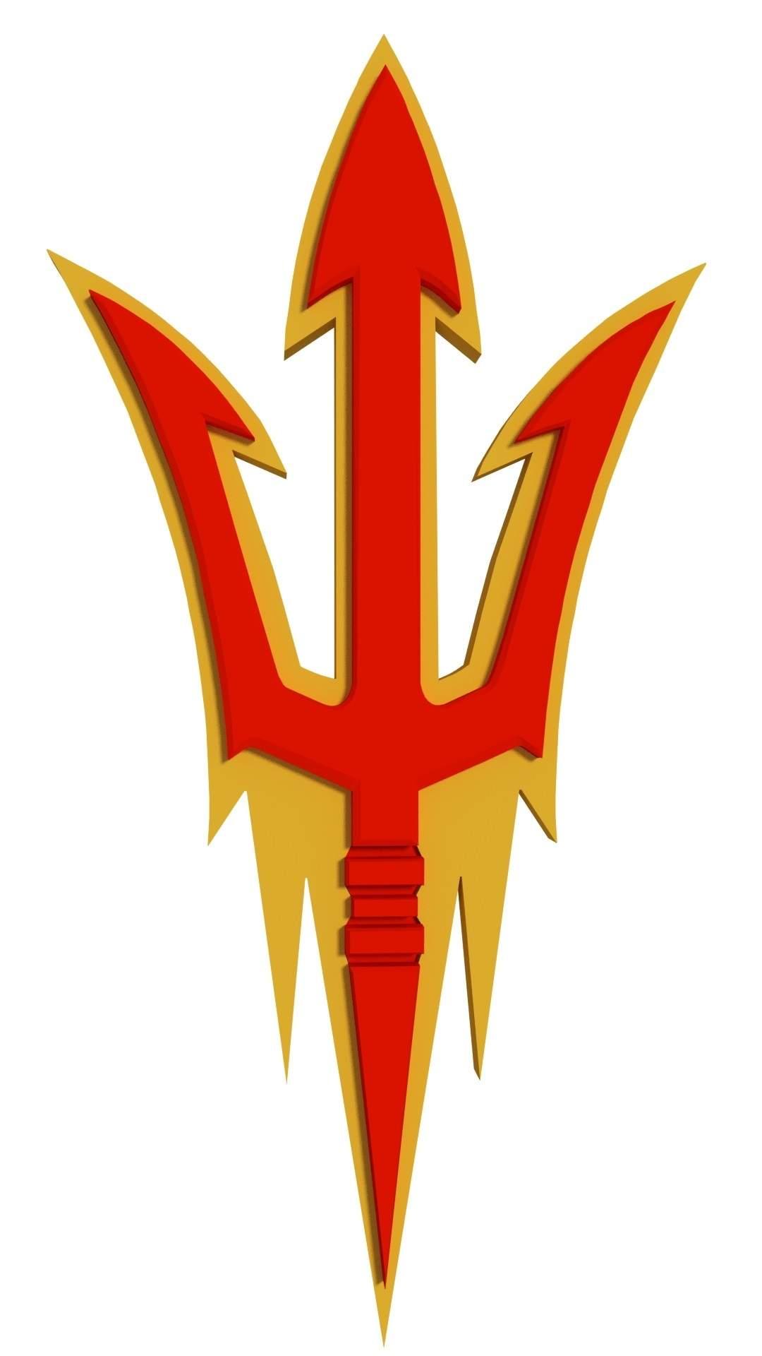Arizona Sun Devils Logo Print Ready 3D Model.