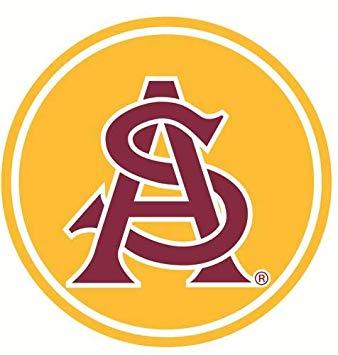 Amazon.com: 6 Inch ASU Logo Decal Arizona State University.