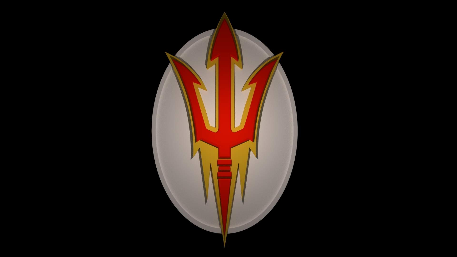 Arizona Sun Devils Oval Logo Print Ready 3D Model.