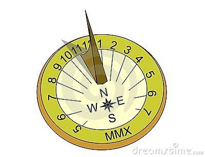 Sundial Stock Photo.