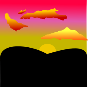 Sundown Clip Art at Clker.com.